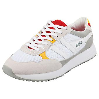 Gola Toronto Mens Fashion Trainers in White Red Grey