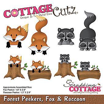 """CottageCutz Dies-Fox & Raccoon, 1.3"""" To 2.9"""""""