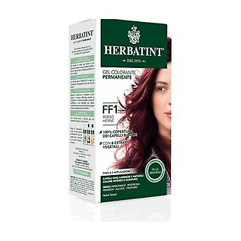 Hair Dye Permanent Color Gel FF1 Henne Red 150 ml