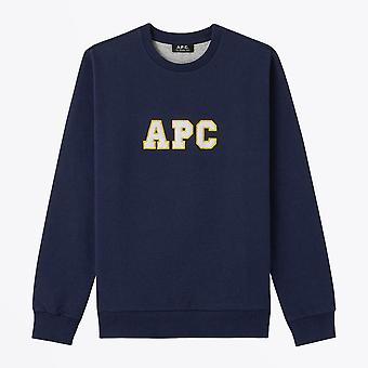 A.P.C.  - Malcolm - Collage Logo Sweater - Navy