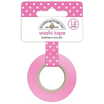 Doodlebug Design Bubblegum Swiss Dot Wshi Tape