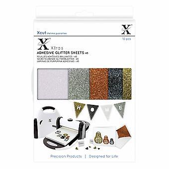 Xcut Xtra A5 Selvklæbende glitter ark