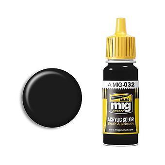 Ammo by Mig Acrylic Paint - A.MIG-0032 Satin Black (17ml)