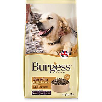 Burgess Sensitive Adult Dog - Turquie - 12.5kg