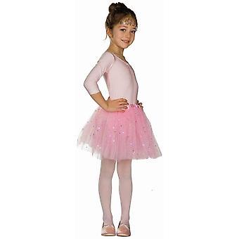 Glitter Tulle Skirt LED (incl. batteries) Tutu kids girl costume skirt mini