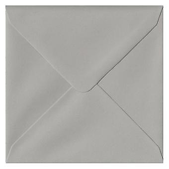 Owl Grey Gummed 130mm Square Coloured Grey Envelopes. 120gsm FSC Sustainable Paper. 130mm x 130mm. Banker Style Envelope.