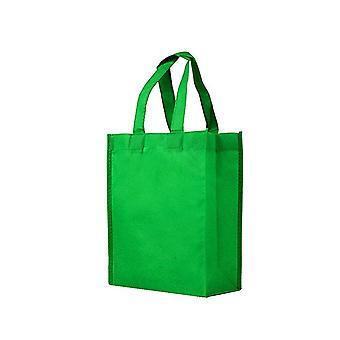 25PCS Reusable Non-wovenTote Bags Green 25x35x10cm