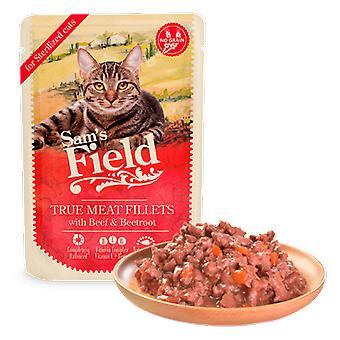 Sam's Field Sterilized Pouch Filetes de Vaca con Remolacha (Cats , Cat Food , Wet Food)