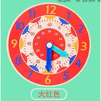 Montessori Wooden Colorful Clocks Hour, Minute, Second Cognition- Early