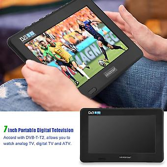 7inch Dvb-t-t2 16:9 Hd Digital Analogic Portabil Tv Color Television Player Pentru Home Car Pentru Eu Plug