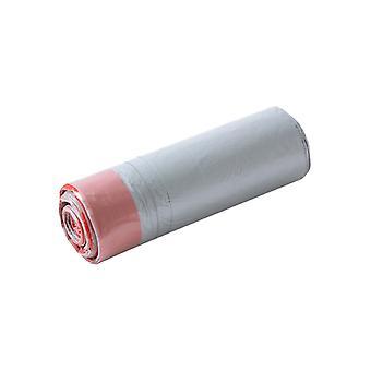 30KS tunelové sťahovanie vrece na odpadky šedá taška červené tunelové sťahovanie