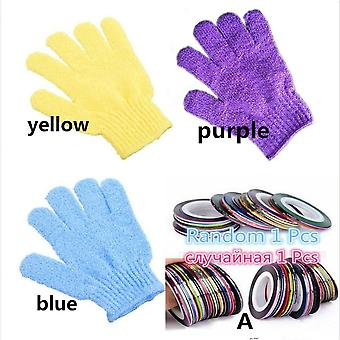 1 Pcs Shower Exfoliating Body Scrub - Nylon Glove
