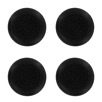 Tpu analogue thumb grip stick concave covers caps for xbox 360 - 4 pack black