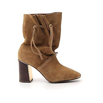 Tory Burch 59608912 Women's Brown Suede Ankle Boots