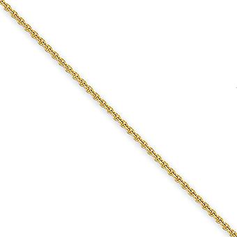 14k Yellow Gold Lobster Claw Closure 2.2mm Solid Polished Cable Chain Anklet Lobster Claw Jewelry Gifts for Women - Leng