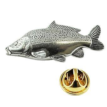 Ties Planet Leather Carp Fish Fish Anglais Pewter Lapel Pin Badge
