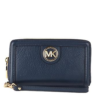 MICHAEL Michael Kors Samira Lg Flat Multifonctional Phone Case Navy