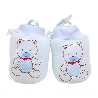 Autumn Winter Baby Gloves 1 Pairs Cute Cartoon Cotton Baby Anti Scratch Newborn Mittens Fabric Gloves Gift