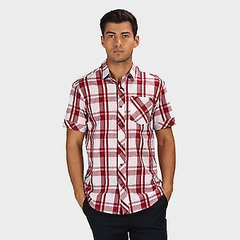 Neue Regatta Herren's Deakin III Kurzarm Shirt weiß/rot