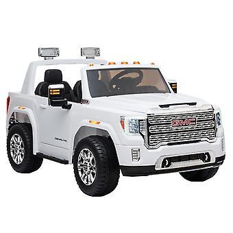 Elektrisk barnbil GMC Denali vit terrängfordon 12V
