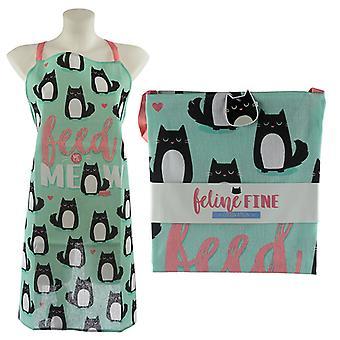 Fun Cat Design Poly Cotton Apron X 1 Pack