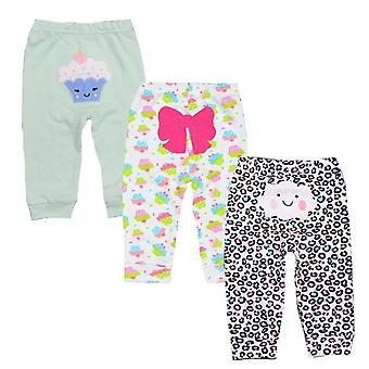 3pcs/lot Cotton Baby Clothes, Harem Toddler Pants- Baby Trousers Mid Waist 3-24