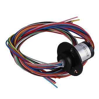 12 Wires Black Metal AC240V Conductors Slip Ring Fit Wind Power Generator