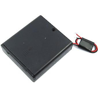 4xAA Battery Box with Switch