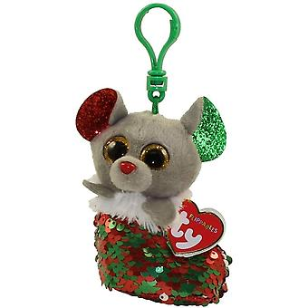 TY Key Clip - Chipper the Mouse (Natal)