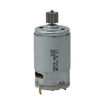 390 6V 12T Metal High Speed Motor Engine 18000RPM 29mm Dia Silver
