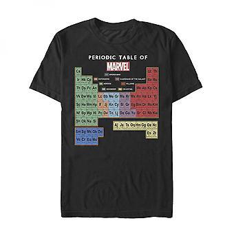 Marvel Tabla Periódica de Elementos Hombres's Camiseta
