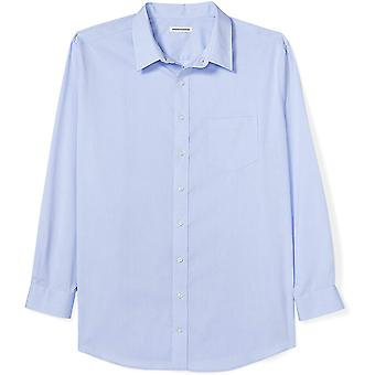 Essentials Men's Big & Tall Wrinkle-Resistant Long-Sleeve Solid Dress ...