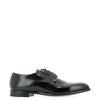Fabi Fu7892 Men's Black Patent Leather Lace-up Shoes