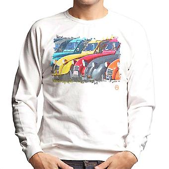 Citro�n 2CV In A Line Retro Photo Men's Sweatshirt