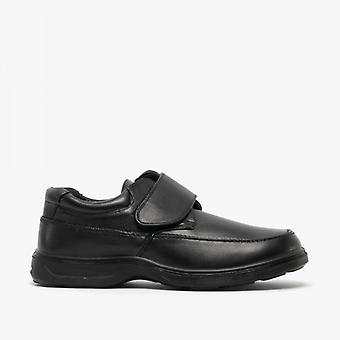 Dr Keller Percy Mens Touch Fasten Lightweight Wide Fit Shoes Black