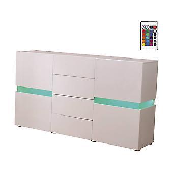 Mueble LED - 165 x 40 x 92 cm - Blanco lacado