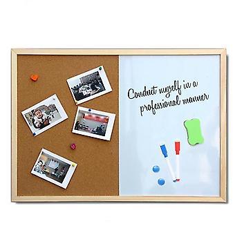 Bericht Cork, Wood Frame Whiteboard, Tekening Combinatie, Bulletin Magnetic,