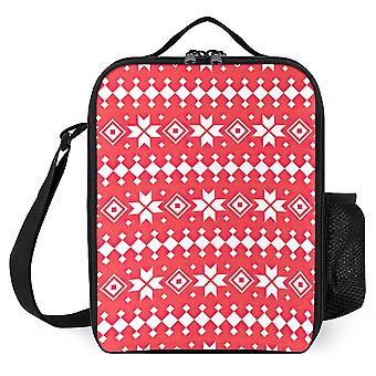 Christmas Ethnic Pattern Traditional Design Printed Lunch Bags