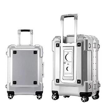 Spinner per bagagli rotolamento telaio in alluminio su ruota portare avanti valigia da viaggio