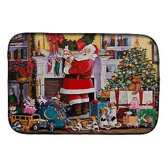 Carolines Treasures PJH3003DDM Santa Claus Het plaatsen van de presenteert Schotel Drogen Mat