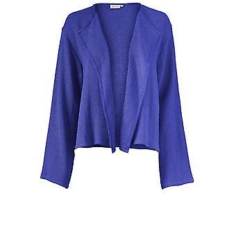 Masai Clothing Julitta Blue Woven Knit Jacket