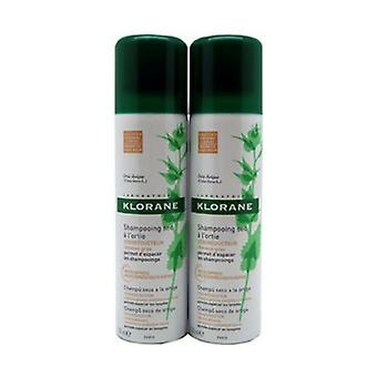 Nettle dry shampoo for brown hair 2 units of 150ml