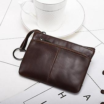 Mini Purse Leather Zipper, Short Small And Slim Wallet, Women