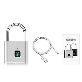 Serratura della porta di sicurezza, smart keyless e usb ricaricabile, lucchetto per impronte digitali