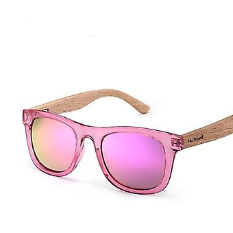 Multicolor Frame Wooden Sunglasses For Child