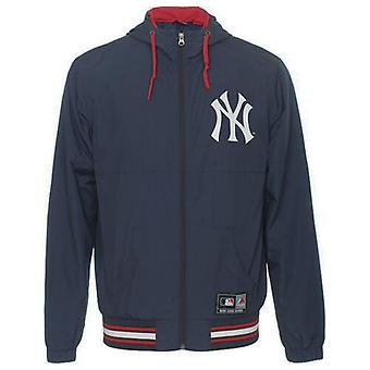 Majestic NY Baseball Ricker Hooded Perforated Mens Windrunner NVY012 EE120