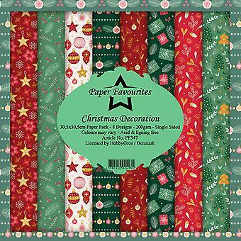 Papper Favoriter juldekoration 12x12 Tums Paper Pack