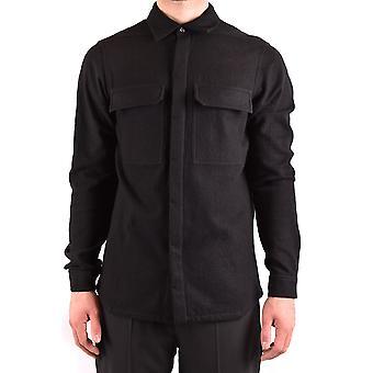 Rick Owens Ezbc436006 Men's Black Cotton Shirt