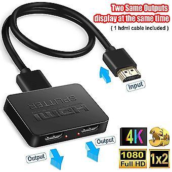 """Διαχωριστής HDMI 1 σε 2 έξω, 4k διαχωριστής HDMI για τις διπλές οθόνες,"""" Äêmirror μόνο, όχι επεκτείνει""""Äë, 1x2 HDMI sp"""