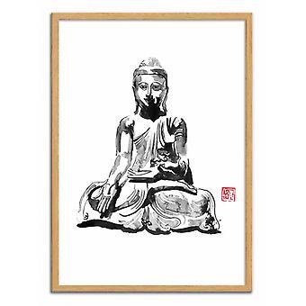 Art-Poster - Buddha - Pechane Sumie